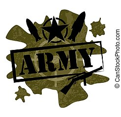 Army military design vector illustr