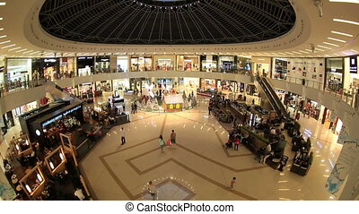 Marina Mall in United Arab Emirates - people shopping in the...