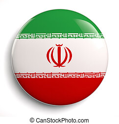 Iran flag - Iranian flag design icon Clipping path included...