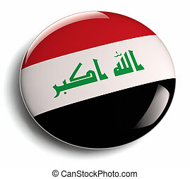 Iraq flag design round badge
