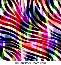 Animal Skin Print, Zebra Pattern - Textile design
