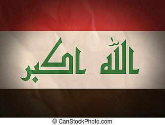Iraq grunge flag. Vintage, retro style