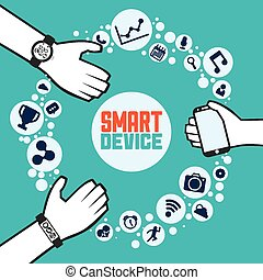 smart device design, vector illustration eps10 graphic