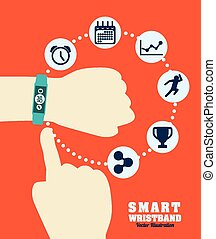 smart wristband design, vector illustration eps10 graphic