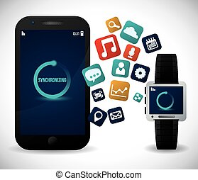 smart watch design, vector illustration eps10 graphic