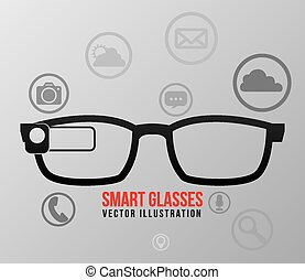 smart glasses design, vector illustration eps10 graphic