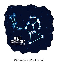orion constelation design, vector illustration eps10 graphic...