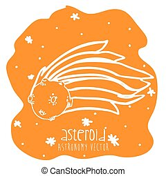 asteroid drawn design, vector illustration eps10 graphic