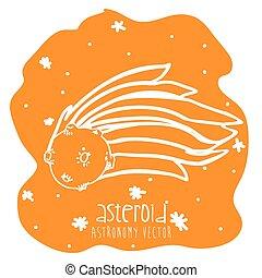 asteroid drawn design, vector illustration eps10 graphic