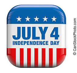 July 4 Independence Day icon.