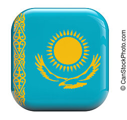 Kazakhstan flag isolated symbol icon