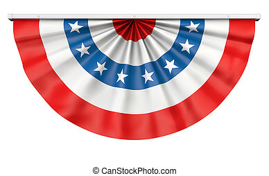 Bunting American Flag - Bunting for July 4th or any American...
