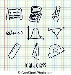 math class design - math class design, vector illustration...