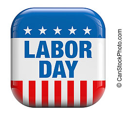 Labor Day USA isolated icon