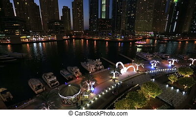 city life in Dubai United Arab Emirates UAE at night