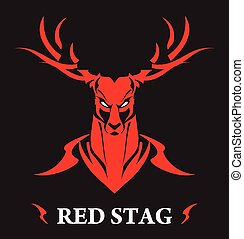 stag, red stag, - symbolizing power, protection, dignity,...