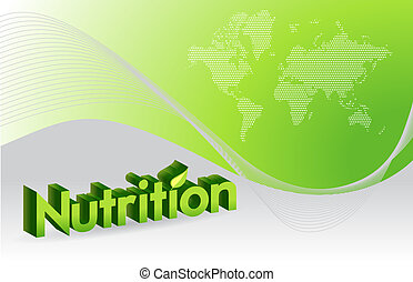 nutrition sign illustration design over a green background