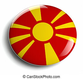 Macedonia flag design round badge