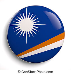 Marshall Islands flag icon. Clipping path included.