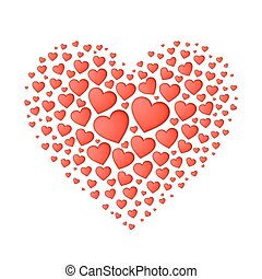 Big red heart from small
