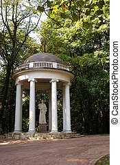 arbour - arbour in park tsaritsino , moscow , russia...