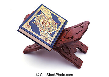 The Holy Quran - The Holy Quran Isolated on white background...