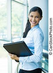 Businesswoman - Closeup portrait, young professional,...