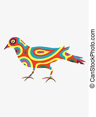 Dove bird abstract colorfully, art vectorillustration