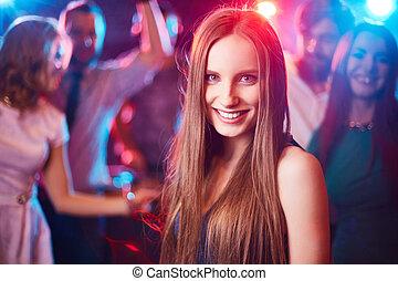 Girl at disco