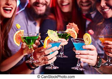 cóctel, fiesta,