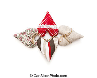 Isolated valentine hearts - Various hearts on a white...
