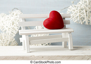 Hearts - Heart on the wooden background valentine day...