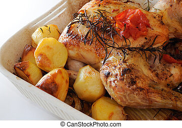 roasted chicken - roasted chicken dish with...