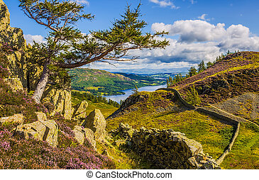 Ullswater Lake England Landscape - Ullswater Lake seen from...