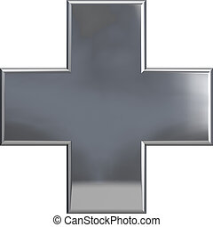 Metallic Cross Plus Symbol