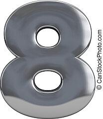 8,  metal, Número