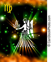 Virgo background - Virgo star sign background