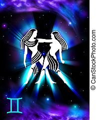 Gemini background - Gemini star sign background