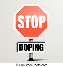 Stop Doping - detailed illustration of a red stop Doping...