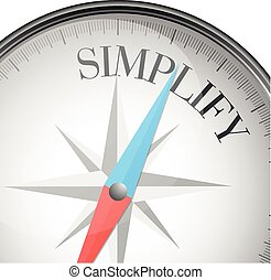 compass simplify - detailed illustration of a compass with...