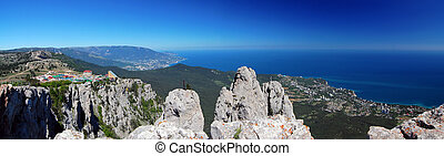 Panorama with Ah-Petri. Crimea - Panorama with Ah-Petri in...