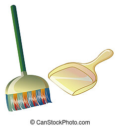 broom and dustpan - a nice picture of a broom and a dustpan