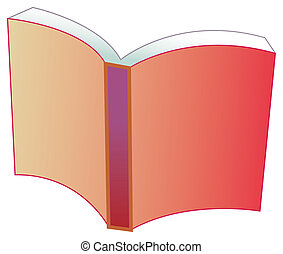 book - a nice drawing of a redcovered book