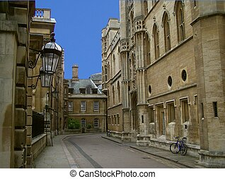 street in Cambridge - tradition street in the precints of...