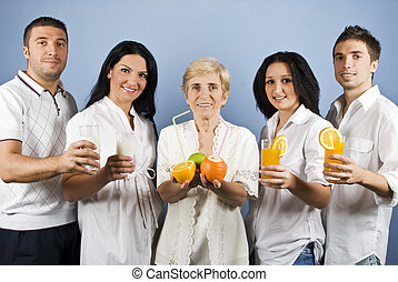 Healthy group people - Healthy group of friends people or...