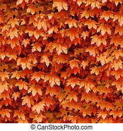 Seamless maple leafs background.