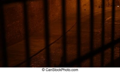 Behind Bars Night View