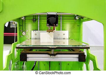 3d printer close up, 3D print concept