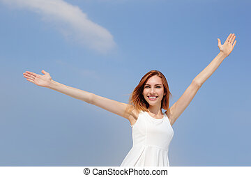 Freedom and Carefree woman - Smile Freedom and Carefree...