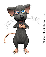 Cartoon mouse looking very angry.